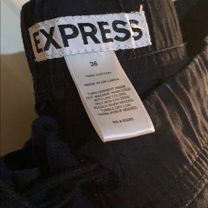 Express Pants - Express men's black twill joggers